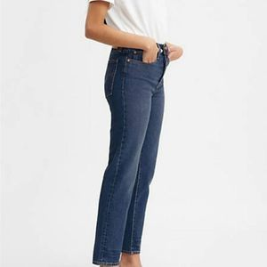 Levi's Wedgie High Rise Crop Jeans Button Fly 28